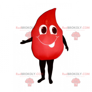 Blood mascot with smile - Redbrokoly.com