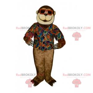 Małpa maskotka z okularami przeciwsłonecznymi - Redbrokoly.com