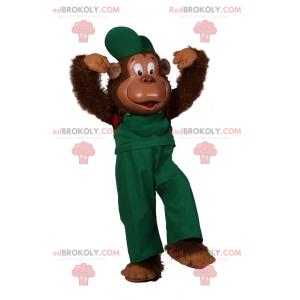 Monkey maskot overall - Redbrokoly.com