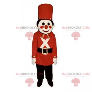 Rød nøtteknekker-soldatmaskott - Redbrokoly.com