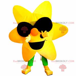 Sun mascot with sunglasses - Redbrokoly.com