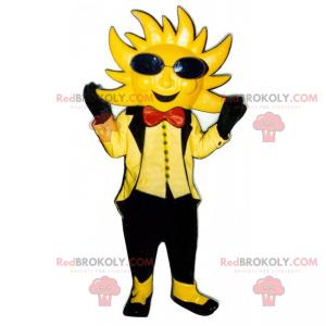 Maskotka słońce z czarnymi okularami i muszką - Redbrokoly.com