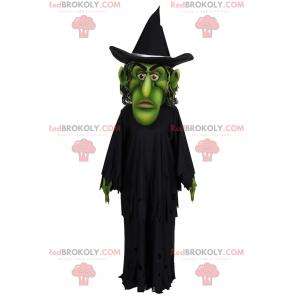 Maskot čarodějnice se zeleným obličejem - Redbrokoly.com