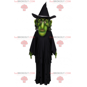 Witch mascot with green face - Redbrokoly.com