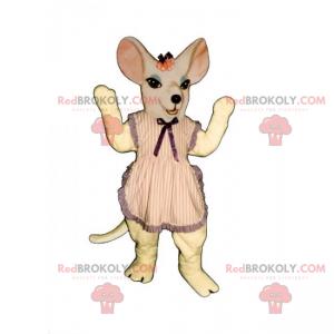 Myš maskot s pruhovanou zástěru - Redbrokoly.com