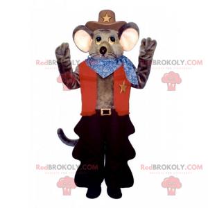 Mus maskot cowboy antrekk - Redbrokoly.com