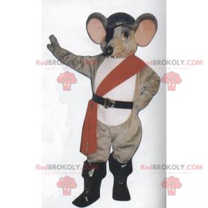 Maskotka myszy w stroju pirata - Redbrokoly.com