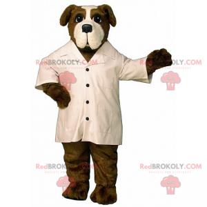 St Bernard mascot with white coat - Redbrokoly.com