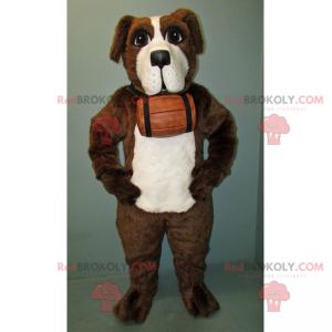 Mascot of St Bernard with his barrel - Redbrokoly.com