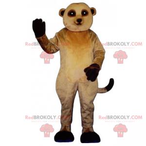 Erdmännchen Maskottchen mit schwarzen Beinen - Redbrokoly.com