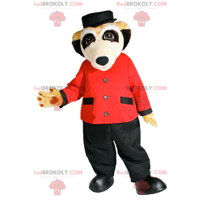 Meerkat maskot i hotellbetjent antrekk - Redbrokoly.com