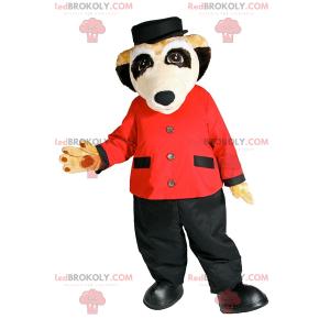 Surikata maskot v hotelu komorník oblečení - Redbrokoly.com