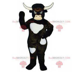 Bull mascot with white spots - Redbrokoly.com