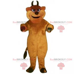 Bullenmaskottchen mit Minihörnern - Redbrokoly.com