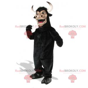 Maskot býka s velkými zaoblenými rohy - Redbrokoly.com