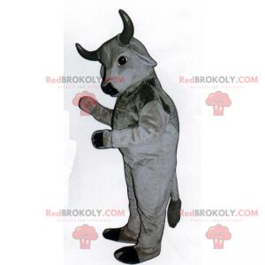 Gray bull mascot - Redbrokoly.com
