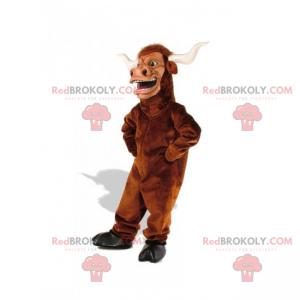 Hnědý býk maskot - Redbrokoly.com
