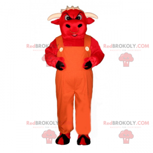 Maskot Red Bull v montérkách - Redbrokoly.com