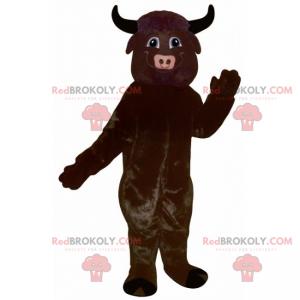 Jednobarevný býčí maskot - Redbrokoly.com
