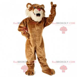 Saber tooth tiger mascot - Redbrokoly.com
