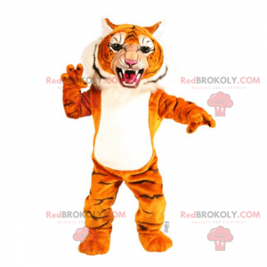 Tiger mascot with an open mouth - Redbrokoly.com