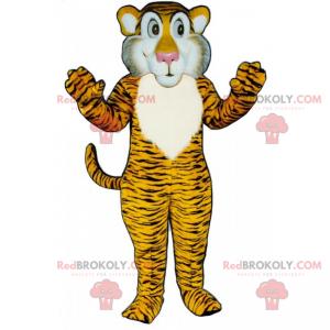 Tiger Maskottchen mit weißen Wangen - Redbrokoly.com