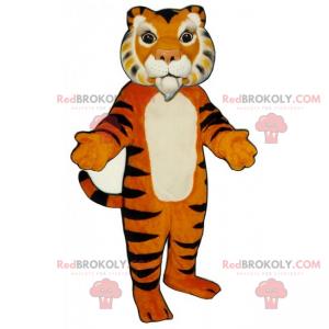 Tiger mascot with white goat - Redbrokoly.com