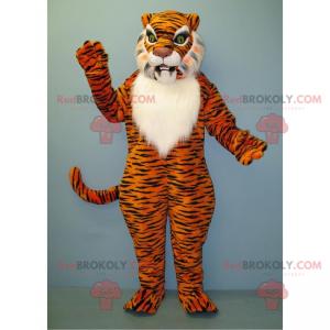 Tiger Maskottchen mit weißem Bauch - Redbrokoly.com