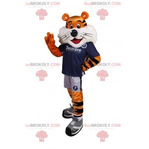 Tygrys maskotka w stroju piłkarskim - Redbrokoly.com