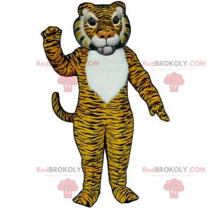 Žlutý a černý tygr maskot - Redbrokoly.com