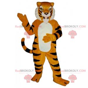 Orange und schwarzer Tiger Maskottchen - Redbrokoly.com