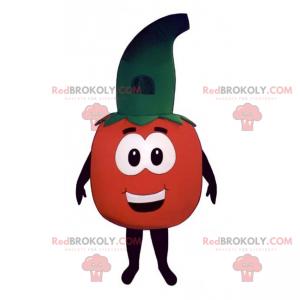 Maskot rajče s kloboukem čarodějnice - Redbrokoly.com