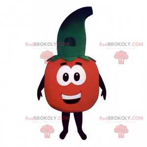 Tomato mascot with witch hat - Redbrokoly.com