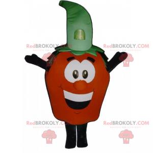 Maskot rajče s usměvavou tváří - Redbrokoly.com