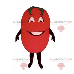 Lächelndes Tomatenmaskottchen - Redbrokoly.com