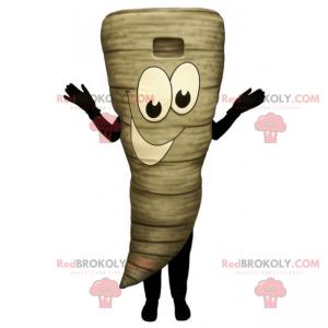 Tornado mascot with smiling face - Redbrokoly.com