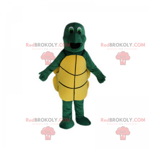 Groenogige schildpad mascotte - Redbrokoly.com