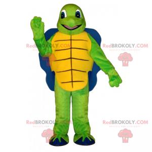 Mascote tartaruga com casca azul - Redbrokoly.com