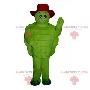 Mascote tartaruga com chapéu - Redbrokoly.com