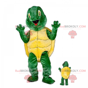 Smilende skildpadde maskot - Redbrokoly.com