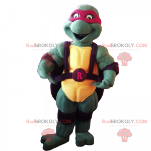 Mascotte van Ninja Turtles - Raphael - Redbrokoly.com