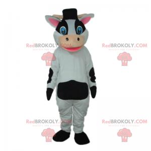 Kráva maskot s kloboukem - Redbrokoly.com