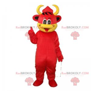 Maskot červená kráva - Redbrokoly.com