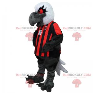Vulture mascot in soccer jersey - Redbrokoly.com