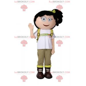 Schoolgirl mascot with a quilt - Redbrokoly.com