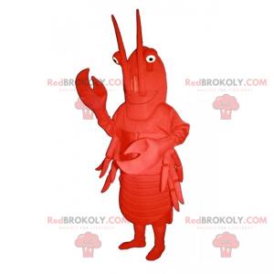 Mascotte van rivierkreeften met grote antennes - Redbrokoly.com