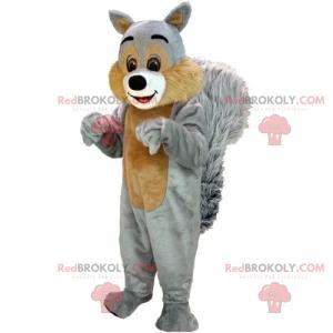Mascotte scoiattolo con mantello morbido - Redbrokoly.com