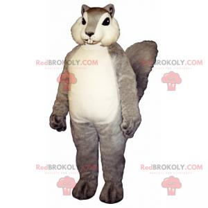 Mascotte scoiattolo con mantello morbido e setoso -