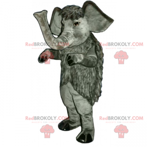 Long-haired elephant mascot - Redbrokoly.com