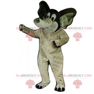 Elephant mascot with small ears - Redbrokoly.com